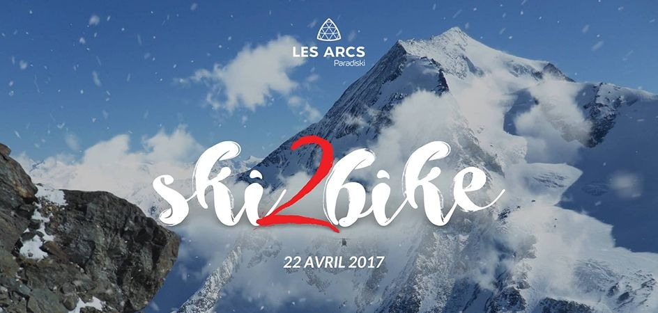 SKI2Bike in les Arcs on April 22, 2017