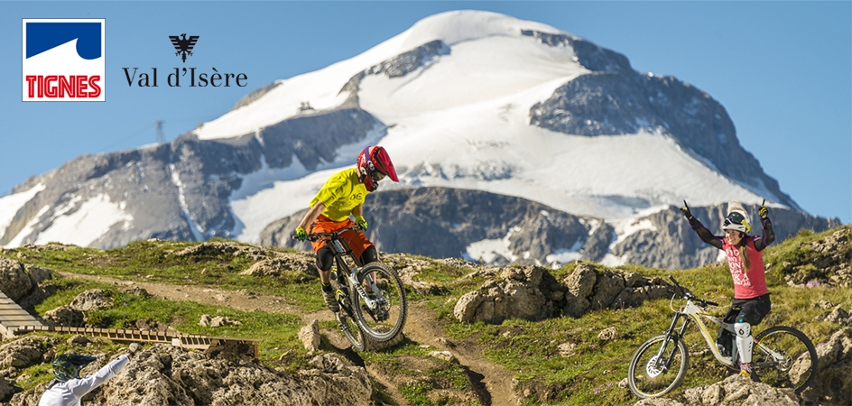 in on the Tignes Val dIsere Bike Park