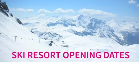 Ski resort opening dates for winter 2016 / 2017